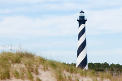 Cape Hatteras Lighthouse seen from beach NC USA Royalty Free Stock Photos