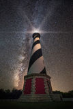 Cape Hatteras Lighthouse Under The Stars Royalty Free Stock Images