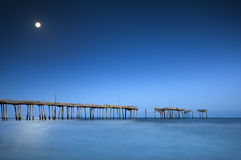 Cape Hatteras National Seashore NC Moonlight Ocean Royalty Free Stock Photo