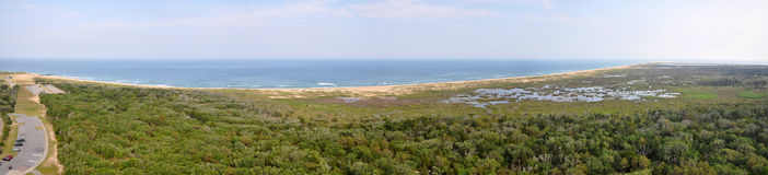 Cape Hatteras National Seashore panorama, North Carolina Royalty Free Stock Photo