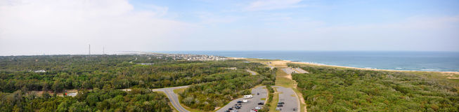 Cape Hatteras National Seashore panorama, North Carolina Royalty Free Stock Photography