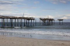 Cape Hatteras Pier Royalty Free Stock Image