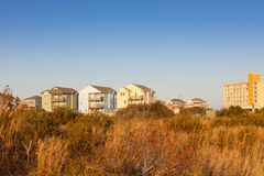 Cape Hatteras Rental Houses Royalty Free Stock Photos