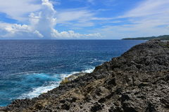 Cape Hedo coastline in the north of Okinawa Royalty Free Stock Photos