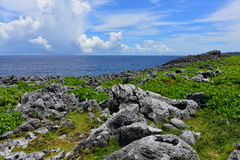 Cape Hedo coastline in the north of Okinawa Royalty Free Stock Photo