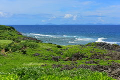 Cape Hedo coastline in the north of Okinawa Royalty Free Stock Image