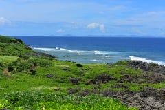 Cape Hedo coastline in the north of Okinawa Royalty Free Stock Photo