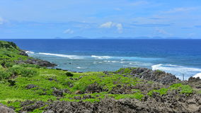 Cape Hedo coastline in the north of Okinawa Royalty Free Stock Photography