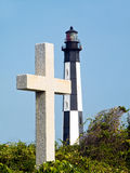 Cape Henry Cross and Lighthouse, Virginia Stock Photos