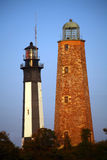 Cape Henry Lighthouse Old and New. The Old Cape Henry Lighthouse and the current operational lighthouse. The Old Cape Henry Lighthouse still stands since 1791 Royalty Free Stock Images