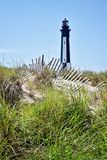 Cape Henry lighthouse in Virginia Beach royalty free stock photography