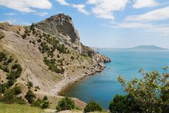 Cape Hoba-Kaya on the Crimean coast. Stock Photography