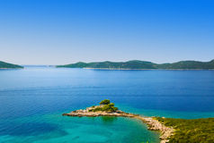 Cape and islands in Croatia Stock Photos