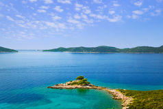 Cape and islands in Croatia Royalty Free Stock Photography