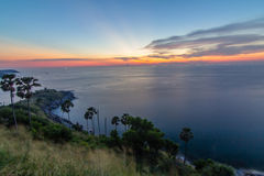 Cape islands in sunset time Royalty Free Stock Photo