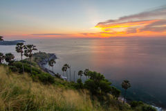 Cape islands in sunset time Stock Photography