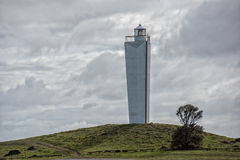 Cape jervis lighthouse on cloudy day Royalty Free Stock Images