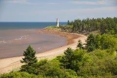 Cape Jourimain lighthouse in New Brunswick Stock Photo