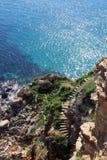 Cape Kaliakra coast stairs Royalty Free Stock Photography
