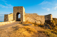 Cape Kaliakra Fortress. The medieval fortress at cape Kaliakra in the Southern Dobruja region of the northern Bulgarian Black Sea Coast during late afternoon Royalty Free Stock Image