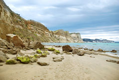 Cape Kidnappers shore Stock Photos