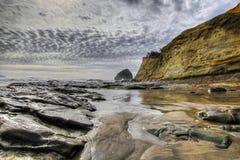 Cape Kiwanda and Haystack Rock. At Pacific City Oregon Royalty Free Stock Photography