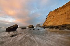 Cape Kiwanda sunrise, Pacific City, Oregon Royalty Free Stock Photo