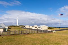 Cape Leeuwin Lighthouse, Western Australia. Cape Leeuwin Lighthouse, the most southwestern point of Australia where the Indian Ocean meets the Southern Ocean royalty free stock images