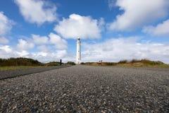 Cape Leeuwin Lighthouse, Western Australia. Cape Leeuwin Lighthouse, the most southwestern point of Australia where the Indian Ocean meets the Southern Ocean stock photo