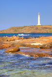 Cape Leeuwin Lighthouse. At the south-western tip of Australia, where two oceans meet royalty free stock images