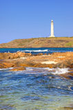 Cape Leeuwin Lighthouse. At the south-western tip of Australia, where two oceans meet stock photos