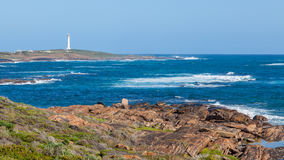 Cape Leeuwin Lighthouse. At the south-western tip of Australia, where two oceans meet stock images