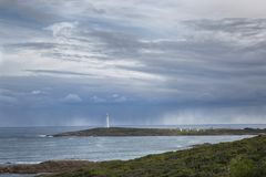 Cape Leeuwin Lighthouse. A view of Cape Leeuwin lighthouse in Augusta Western Australia royalty free stock photos