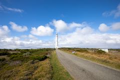 Cape Leeuwin Lighthouse, Western Australia. Cape Leeuwin Lighthouse, the most southwestern point of Australia where the Indian Ocean meets the Southern Ocean stock photography
