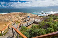 Cape Leeuwin. Viewing platform at Cape Leeuwin Lighthouse Augusta Western Australia wa stock image