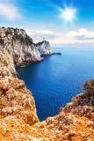 Cape Lefkatas, Lefkada, Greece. Cape Lefkatas on Lefkada island, Greece Royalty Free Stock Photos