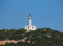 Cape Lefkatas and the lighthouse in the south of Lefkada , Greece Stock Photography