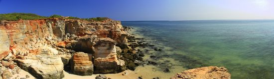 Cape Leveque near Broome, Western Australia. Panorama of Cape Leveque near Broome, Western Australia Royalty Free Stock Photography
