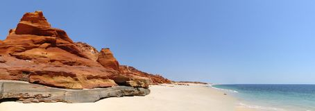 Cape Leveque near Broome, Western Australia. Panorama of Broome's Coast, Western Australia royalty free stock photo