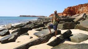 Cape Leveque near Broome, Western Australia. Panorama of Broome's Coast, Western Australia stock images