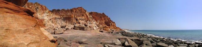 Cape Leveque near Broome, Western Australia. Panorama of Broome's Coast, Western Australia stock photos