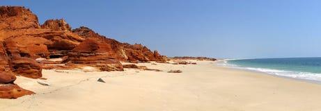 Cape Leveque near Broome, Western Australia. Panorama of Broome's Coast, Western Australia stock photo
