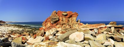 Cape Leveque near Broome, Western Australia. Panorama of Broome's Coast, Western Australia royalty free stock photos