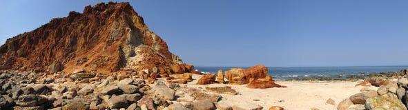 Cape Leveque near Broome, Western Australia. Panorama of Broome's Coast, Western Australia royalty free stock image
