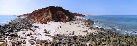 Cape Leveque near Broome, Western Australia. Panorama of Broome's Coast, Western Australia stock image