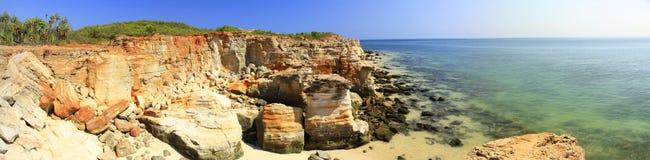 Cape Leveque near Broome, Western Australia. Panorama of Broome's Coast, Western Australia stock photography