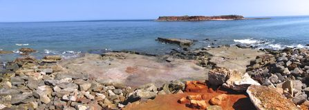 Cape Leveque near Broome, Western Australia. Panorama of Broome's Coast, Western Australia Royalty Free Stock Images