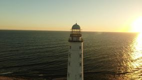 Cape Lighthouse 4k. Aerial footage Cape Lighthouse 4k stock video