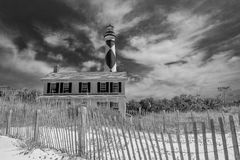 Cape Lookout. Lighthouse with operators home Royalty Free Stock Images