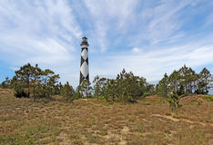 Cape Lookout lighthouse on the Southern Outer Banks of North Car. Cape Lookout Lighthouse on the Southern Outer Banks or Crystal Coast of North Carolina Stock Photography